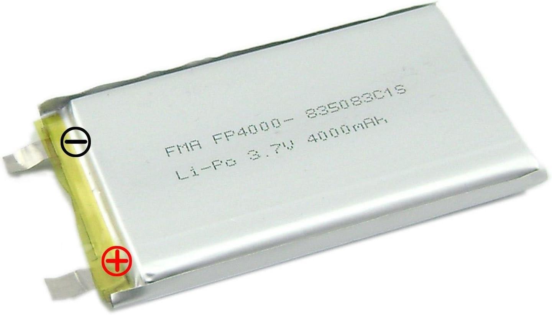 3.7 V 4000 mAh LiPoバッテリーDIYのポータブル電源銀行no PCM