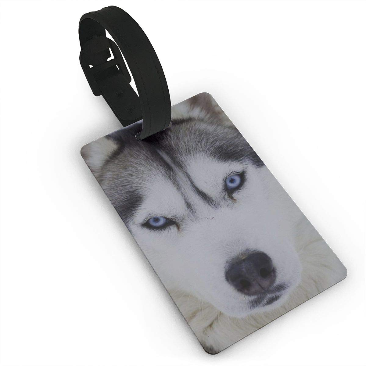 MACA Luggage Tags Huskie Dog - Travel ID Labels Tag for Baggage Suitcases Bags