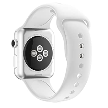 MYQyiyi Correa de Silicona de Reloj Inteligente para Apple Watch Series 3 38MM (Blanco): Amazon.es: Hogar