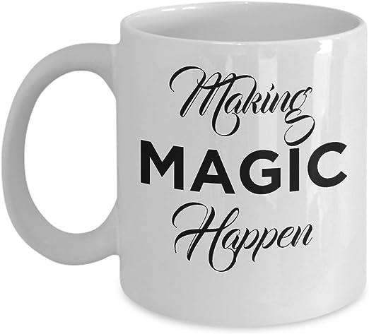 Amazon Com Women S Making Magic Happen Mug Kitchen Dining