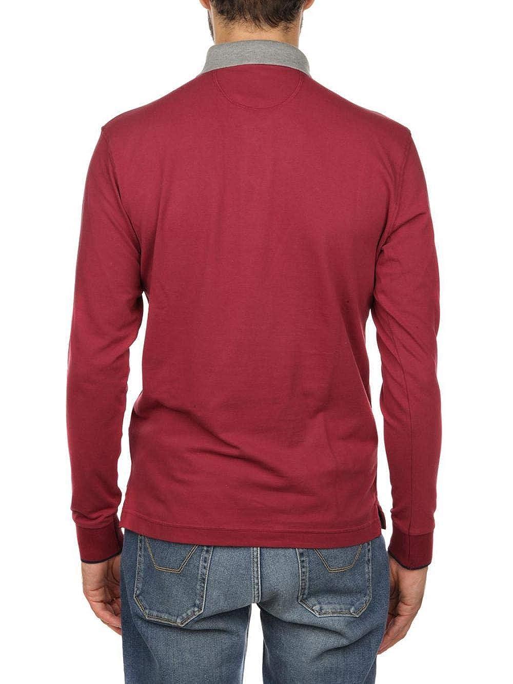 La Martina Hombres Dominick Polo Camiseta de de Camiseta Manga Larga Rojo Oscuro 7724bf