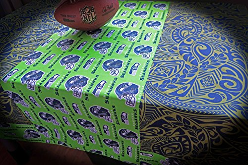 Tablecloth - Seahawks Neon Tablecloth - 60x60 - Ready to ship NOW via USPS Priority! Made in - Order Usps