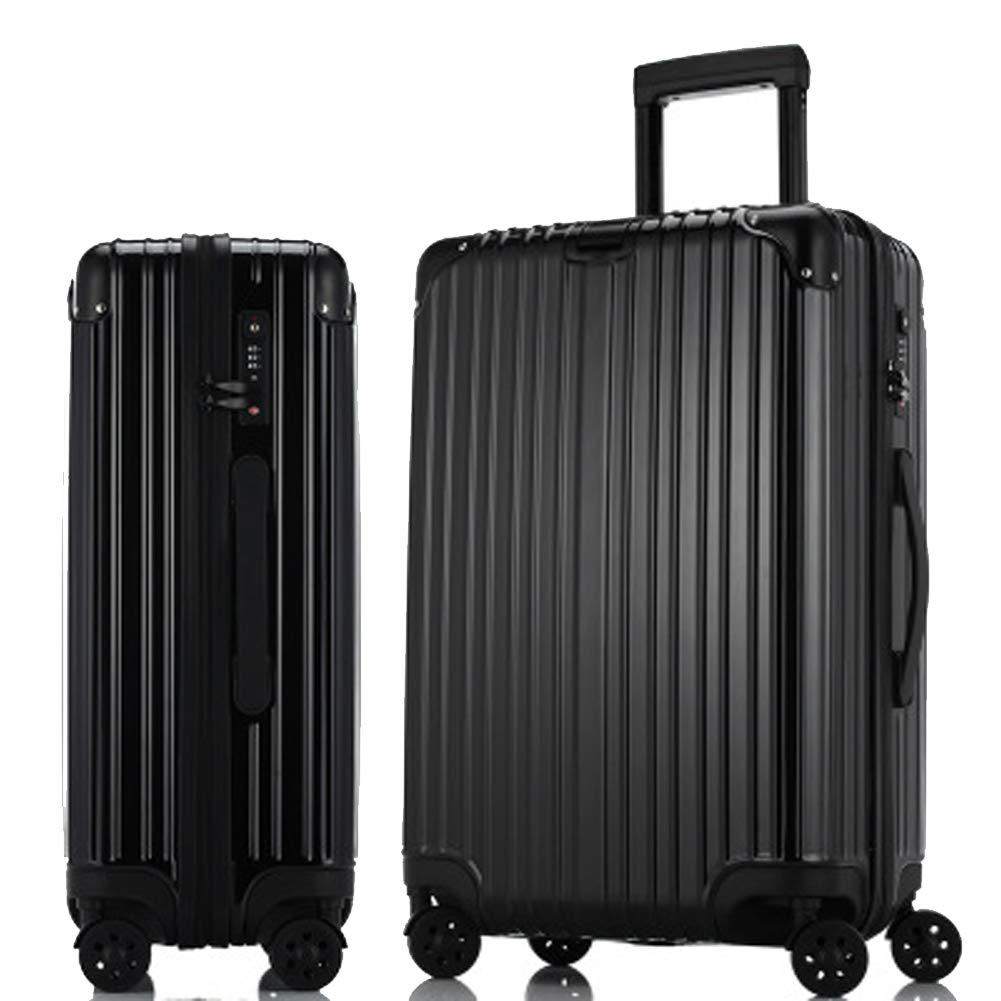 ジッパートロリーケース、スーツケース、荷物、搭乗、-black-S Small black B07R5ZM6P6