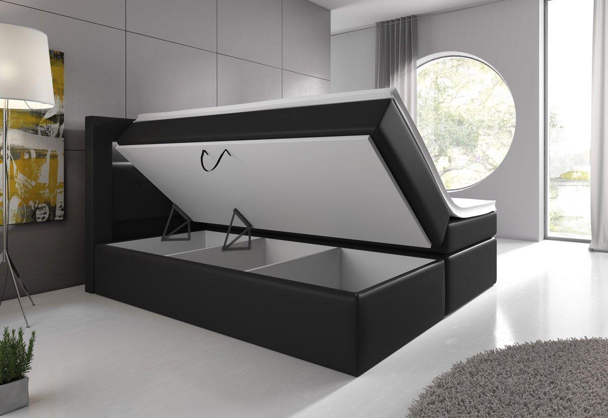 boxspringbett mit bettkasten stauraum neu vergleich 08 2018. Black Bedroom Furniture Sets. Home Design Ideas