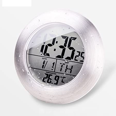 Charmant LYFF Shower Clock ,Digital Waterproof And Display Temperature Clock,Bathroom  Clock