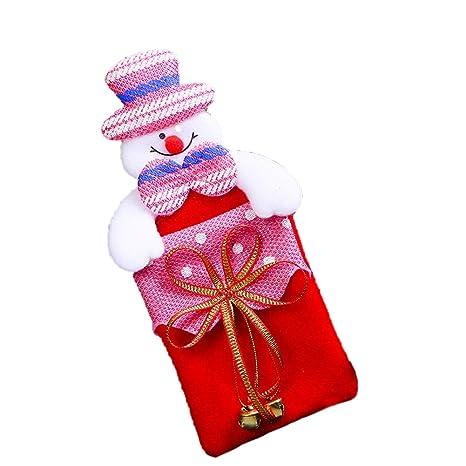 jingyuu 1 Pieza plástico Navidad Chucherías Funda para Navidad Regalo Navideño Joyas geschenksack Árbol de Navidad