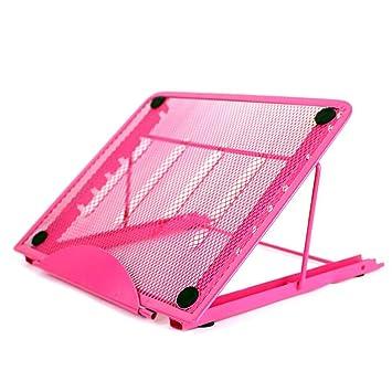 leegoal Soporte Ajustable del Ordenador portátil, Escritorio Tablet Soporte de Malla Metal ventilado Ajustable portátil Soporte para ...
