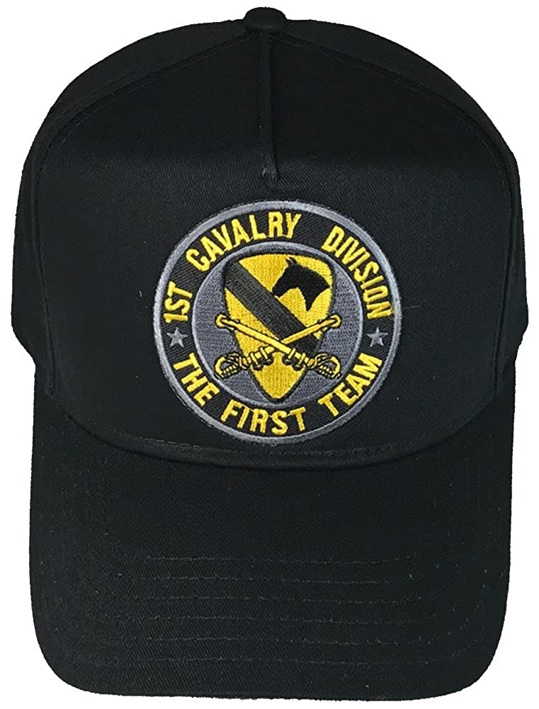dc9d910f9b5 1ST CAVALRY DIVISION HAT - BLACK - Veteran Owned Business at Amazon Men s  Clothing store