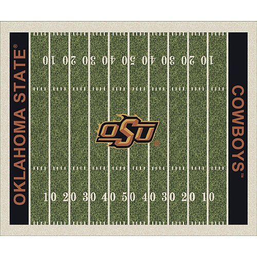 Oklahoma State Cowboys College Team Gridiron 10x13 Rug from Miliken