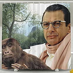 Goddess Aalto Jeff Goldblum Custom Waterproof Fabric Shower Curtain - 60x72 Inch