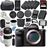 Sony ILCE7SM2/B Alpha a7S II Mirrorless Digital Camera (Body Only) + Sony FE 100-400mm f/4.5-5.6 GM OSS Lens SEL100400GM + 256GB SDXC Card + NP-FW50 Lithium Ion Battery + External Rapid Charger Bundle