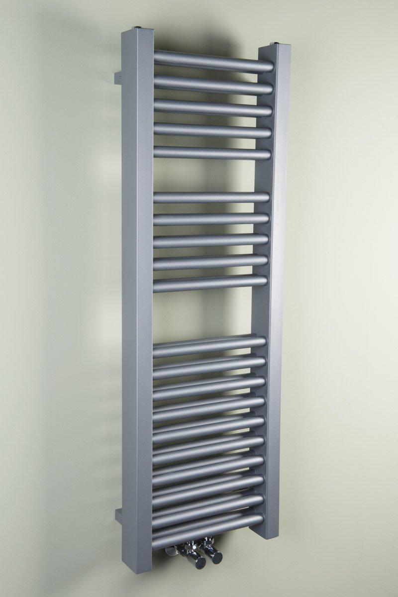 Handtuchheizkö rper Badheizkö rper Handtuchwä rmer 1200x500mm Silber gerade Wärmehaus