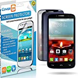 [Alcatel OneTouch Fierce 2] by CoverON, Reflective Mirror Screen Protector [Scratch Resistant Film] HD Anti-Glare Layer for Enhanced Visibility - For [Alcatel OneTouch Fierce 2 7040T / Pop Icon A564c]
