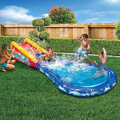 Inflatable Water Slide Dubai: Banzai Inflatable Wave Crasher Surf Water Slide And Pool