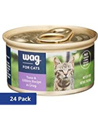 Amazon Brand - Wag Wet Cat Food 3 oz (Pack of 24)