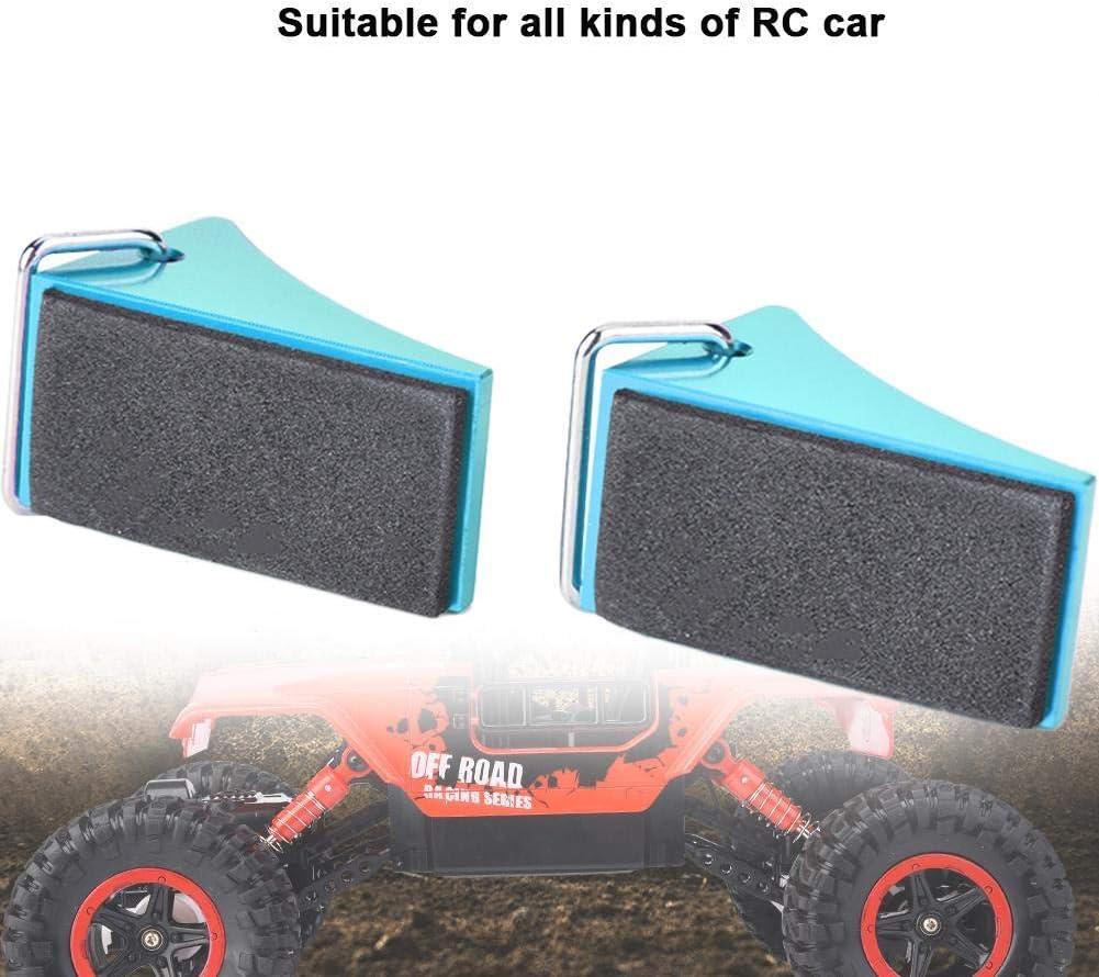 2PCS Aluminum Alloy RC Car Tire Wheel Chock Stop Heavy Duty Wheel Chock VGEBY1 Wheel Chock