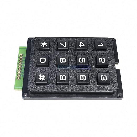 12Key Membrane Switch Keypad 3 x 4 Matrix Keyboard Module Membrane Switch KeyWCP