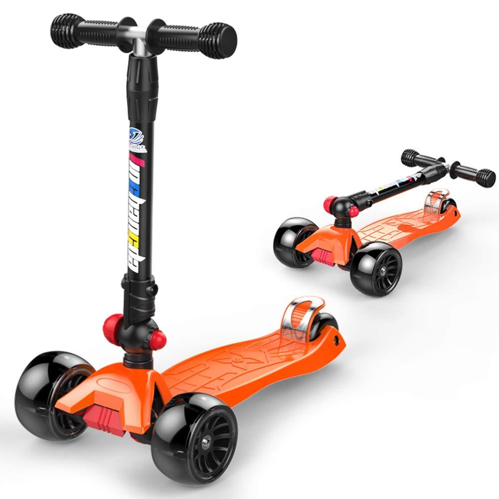 L  JiaQi Kick Scooter pour Les Enfants De 3 à 12 Ans,Patinette Pliable,Réglable en Hauteur Extra grand Pont Idéal pour Les Enfants Filles Ou Garçons