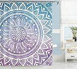Blue Bathroom Ideas Uphome Fashion Waterproof Medallion Pattern Custom Bathroom Shower Curtain Polyester Fabric Bathroom Curtain Ideas (72