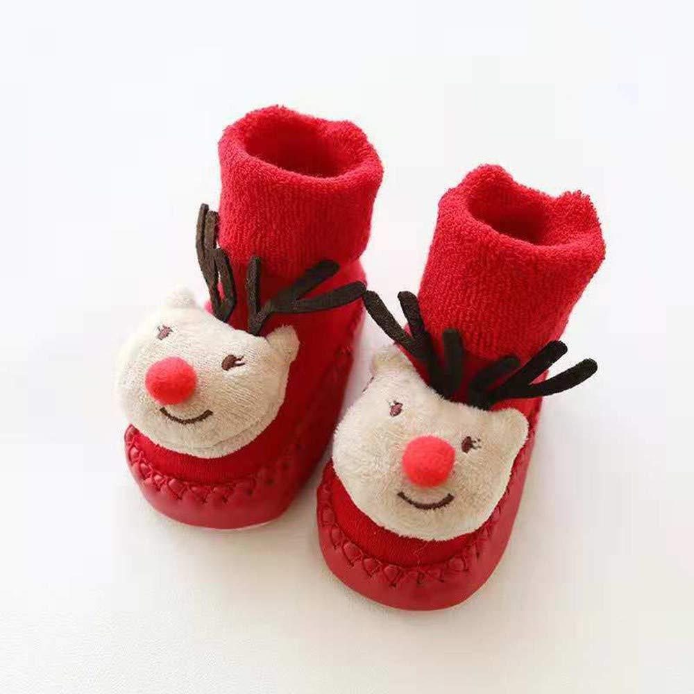 Christmas Baby Socks,Fineser Cute Newborn Boys Girls Christmas Floor Socks Novelty Santa Cotton Anti-Slip Baby Step Socks