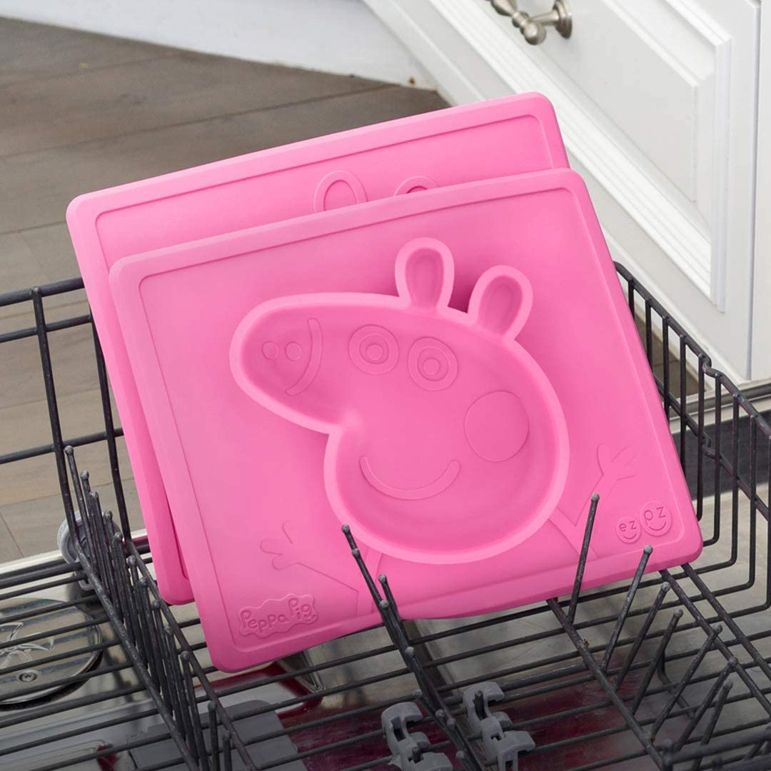 Plate One-Piece Silicone placemat Pink ezpz Peppa Pig Mat