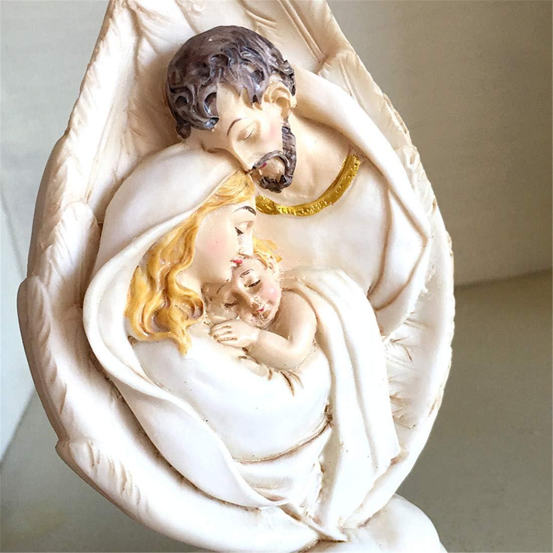 XIAOXI Ic/ône catholique Sainte Joseph Marie avec J/ésus-Christ Figurine Sainte Famille Figurine Christienne Relic Eglise Cadeaux