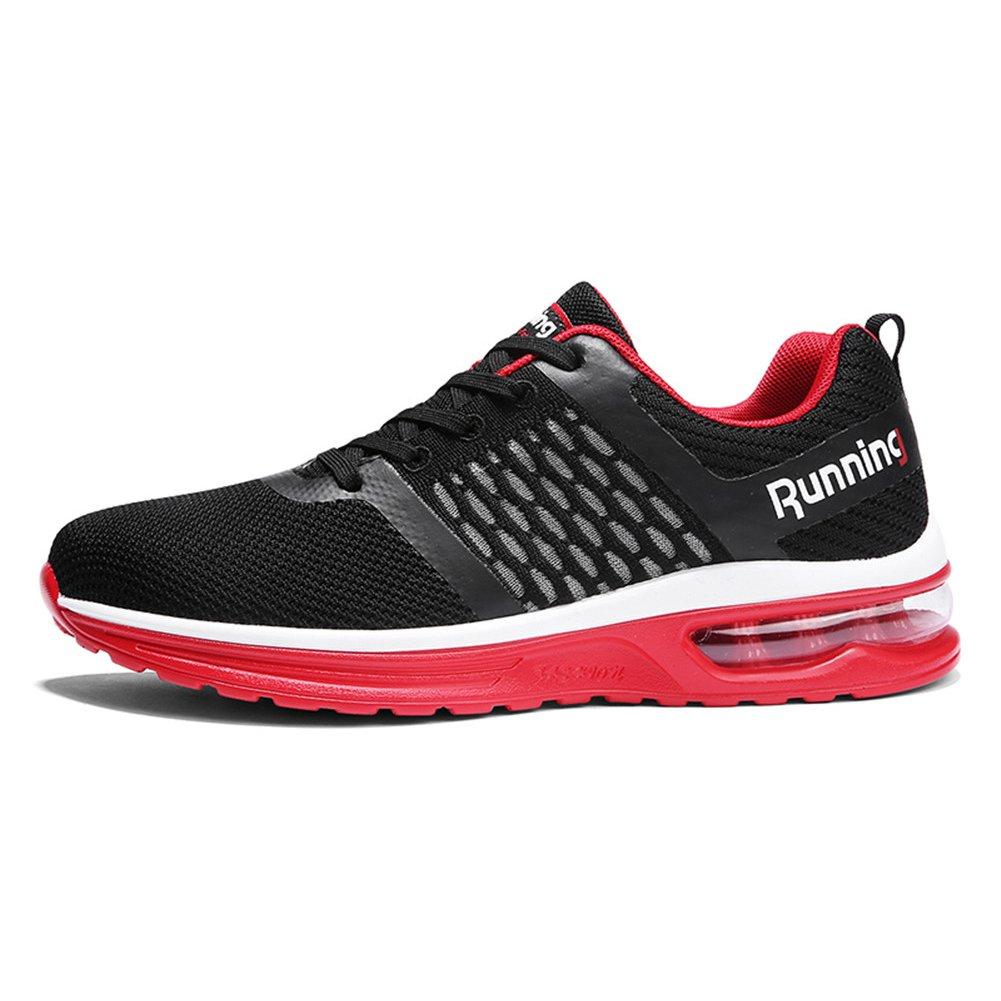 TORISKY Men's Women's Air Cushion Sneakers Outdoor Sport Running Jogging Shoes B079GXDH83 11US-men/12.5-women=EU45|Red