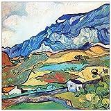 ArtPlaza TW91136 Van Gogh Vincent-Les Alpilles, a Mountain Landscape Near Saint-Reimy Decorative Panel, 15.5x15.5 Inch, Multicolored