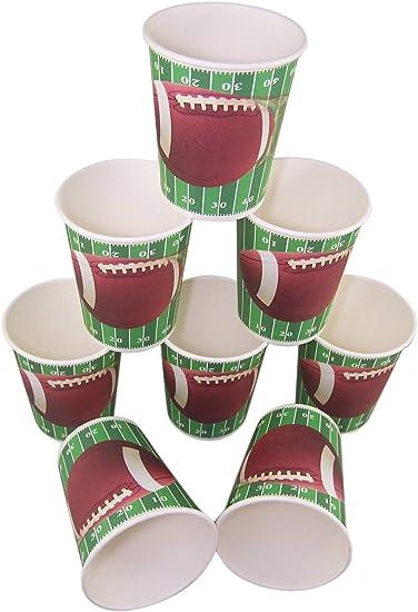 Amazon.com: Vasos de papel con temática de fútbol para ...