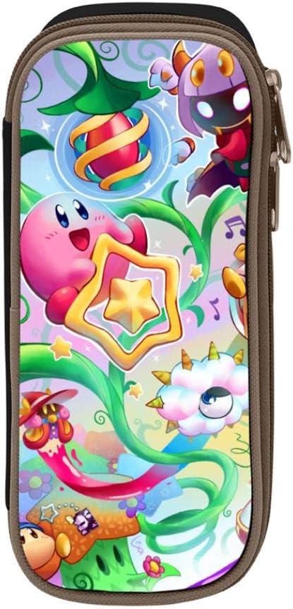 SHZNHXZOE Pencil Box Colorful Kirbyy Monster Double Zipper Original Pen Holder Multipurpose Students Stationery Gift Black