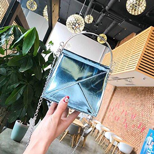 Lucida Piccola colore Tracolla Donna Borsa dimensioni 16 15cm A Silver Elegante Mano Blue Da 11 UR7XnInq