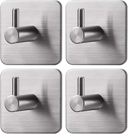 Kitchen Small Hand Towel Holder Wall Mount Bath Shower Hanger Triple Hat Clothes Rack Large Heavy Duty Stainless Steel Chrome Marmolux Acc Towel Robe Coat Hooks for Bathroom Accessories