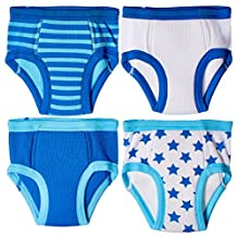 Trimfit Little Boys Waffle Cotton Stars & Stripes Training Pants, 4-Pack, 18M