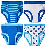 Trimfit Little Boys Waffle Cotton Stars & Stripes Training Pants, 4-Pack, 24M