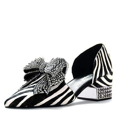 7d1fd0741eb Jeffrey Campbell Valenti Zebra Hair Calf Black and White Rhinstone Embellished  Loafer 6.5