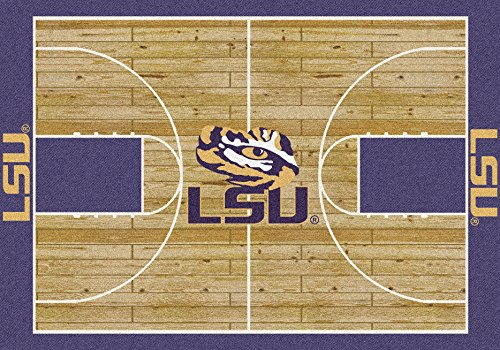 (Ship from USA) 5x8 Milliken LSU Tigers 1152 NCAA Home Court Area Rug - Approx 5'4