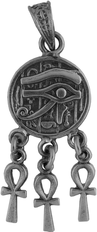 Plata colgante pir/ámide con ojo de Horus, amuleto de la suerte y s/ímbolo de poder y Pr/óspero vida, Plata de ley 925, 3,3/cm L, 2,9/cm B, env/ío en 24/horas