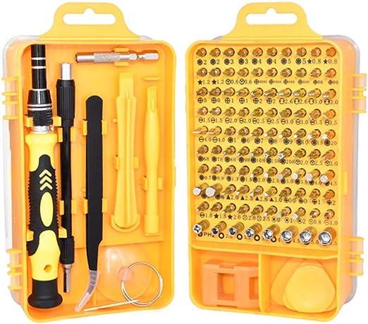 Angmile Kit de herramientas de reparación de PC para teléfono celular 115 en 1 juego de destornilladores con estuche de almacenamiento Juego de destornilladores magnéticos de precisión: Amazon.es: Hogar