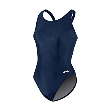 Dolfin Team Solid HP Back Swimsuit Womens - Navy 22