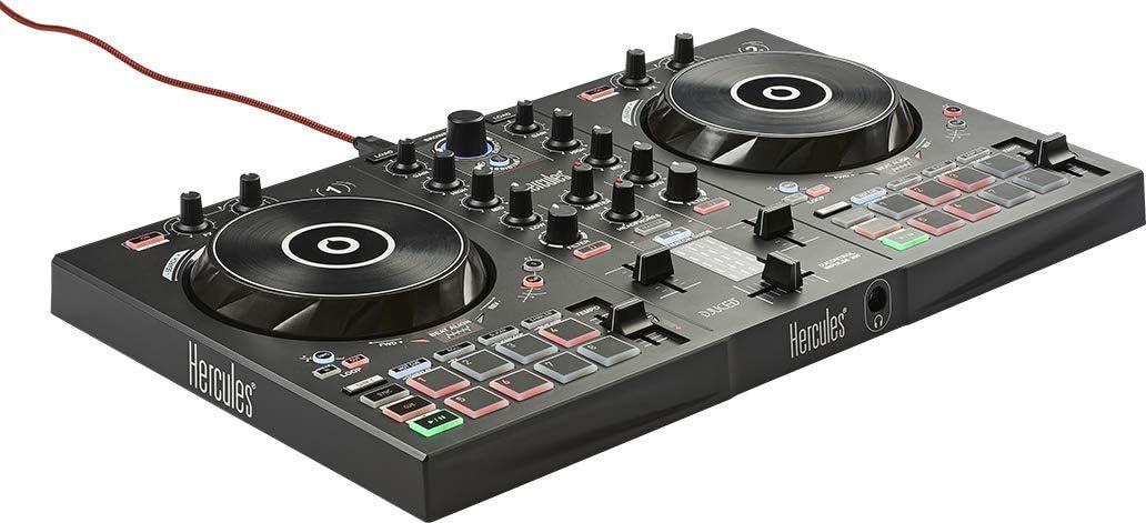 Hercules DJControl Inpulse 300 - Controlador DJ USB, 2Pistas con 16Pads y Tarjeta de Sonido, Incluye Software y Tutoriales, Multicolor