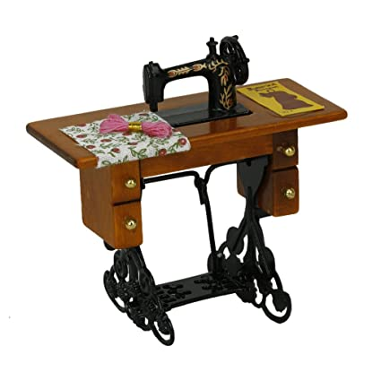 TOOGOO(R) Maquina de coser miniatura de la vendimia con el pano para la