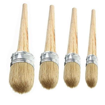 Juego de 4 pinceles de cera para pintura de tiza, cerdas ...