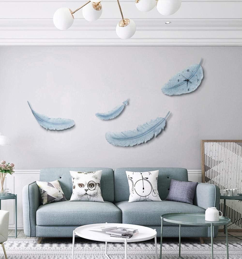 XURANFANG Plume Nordique d/écoration Set d/écoration Murale d/écoration Murale d/écoration Salon tenture ins Vent Mur cr/éatif@BG-9987 Combinaison de Plumes Gris Bleu