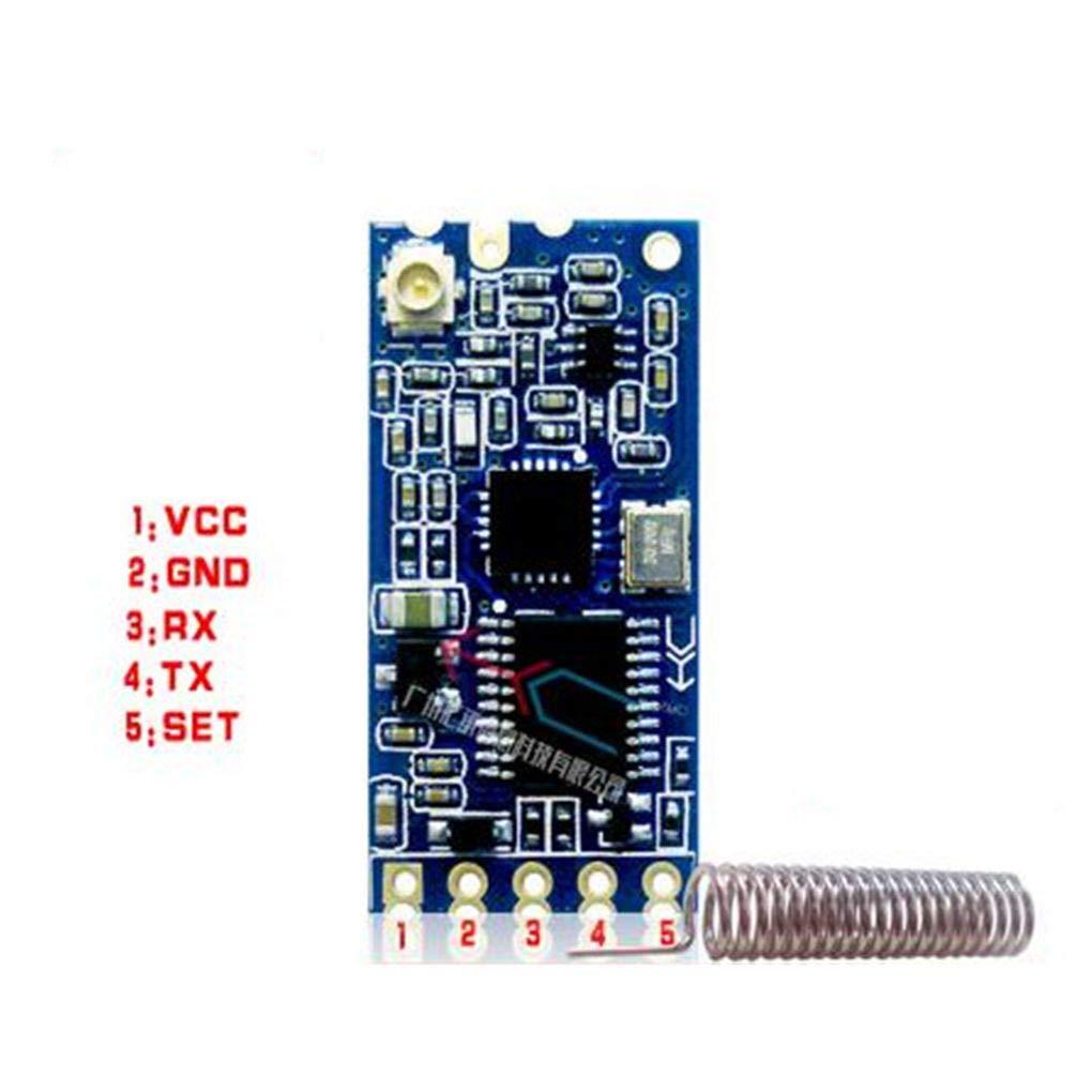 433MHz HC-12 SI4463 sans fil s/érie Port Microcontroller Module 1000m antenne Remplacer Bluetooth Regard