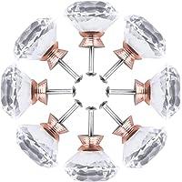 8 stuks kristallen diamanten kastknoppen, kristallen diamant, meubelknop, helder glas knop, lade knoppen, meubelknoppen…