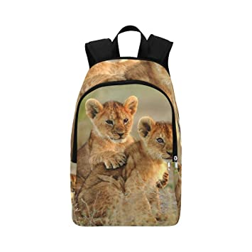 Sav On Bags >> African Lion Roaring With Sunset Silhouette Of Sav Casual Daypack