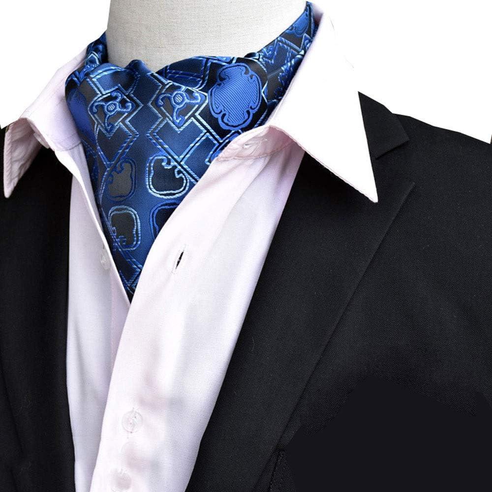 Color : D YLQC Mens Fashion Classic Cravat Paisley Floral Jacquard Woven Self Tie Luxury Ascot