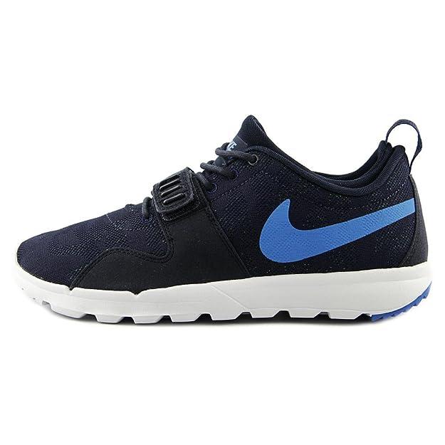 super popular 64041 8f55a Amazon.com   Nike SB Trainerendor (Obsidian Photo Blue-White-Rio Teal) Men s  Skate Shoes   Skateboarding