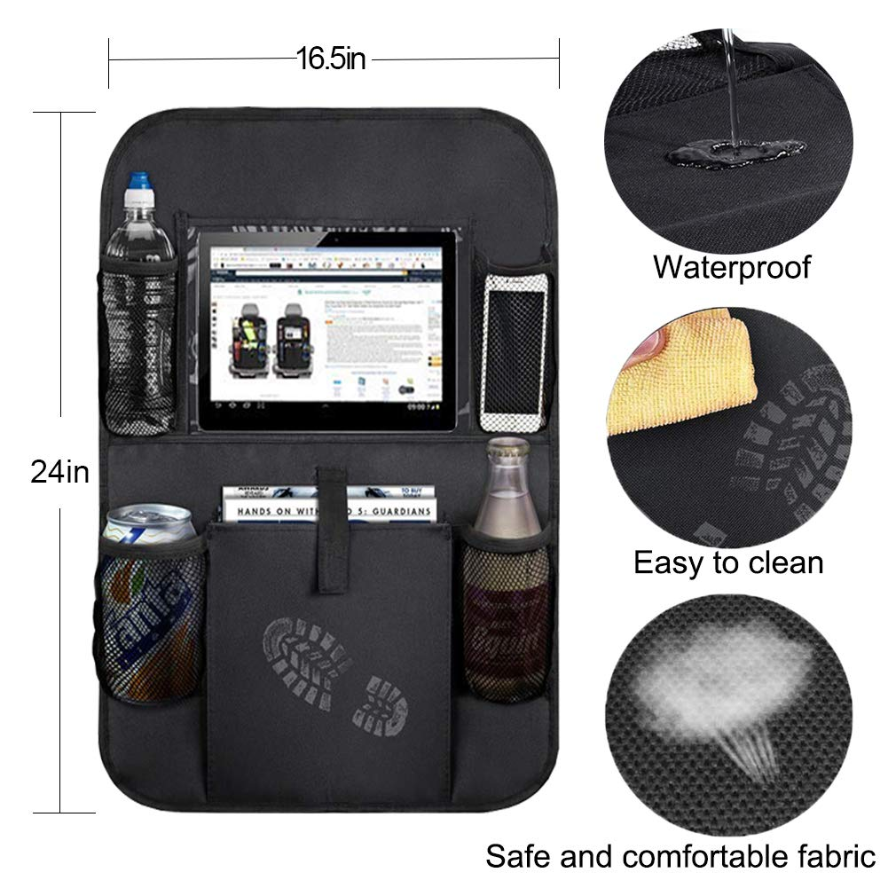 Mobile Phone 1 Pack Umbrella Multi-Function Backseat Car Organizer Toys and More Touch Screen Tablet Storage Bag Store Flat XingMart Car Organizer Back Seat Kick Mat
