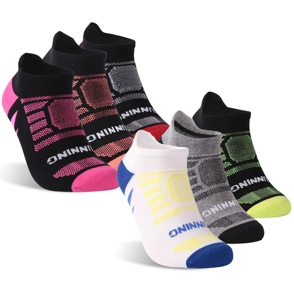 KitNSox Athletic Running Socks Low Cut Men Women Cushioned Ankle No Show Sports Socks,1//3//6 Pairs Mens Womens Summer Antiblister Moisture Wicking Short Jogging Camping Socks No Show 3 Pairs